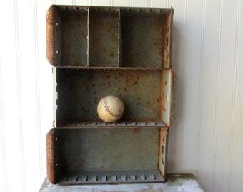 3 industrial metal drawers rusty metal bins parts bin drawer box tin storage display organizer