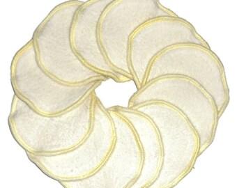 Nursing Pads, Organic Bamboo Hemp Fleece Reusable Nursing Pads