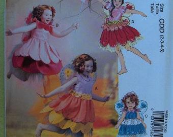 McCalls 6813 Child Fairy Costume Pattern size 2-3-4-5