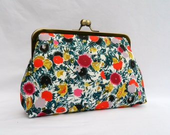 Floral Clutch, Floral Wedding Clutch, Evening Clutch, Bridal Clutch, Floral Brides Clutch, Bridesmaids Clutch,