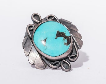 Vintage Southwest Native American Turquoise Ring Size 7.5