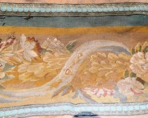 Antique Aubusson Tapestry Panels 18th Century with 19th Century Trim