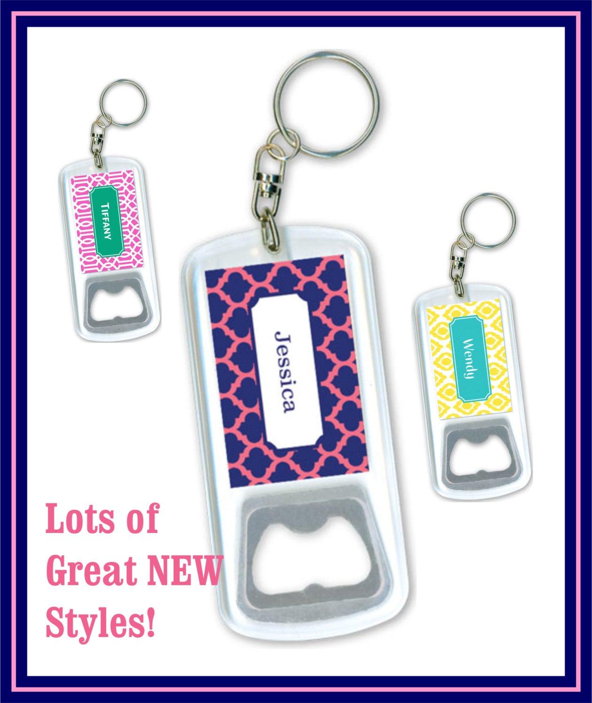 personalized keychain bottle opener keychain monogram. Black Bedroom Furniture Sets. Home Design Ideas