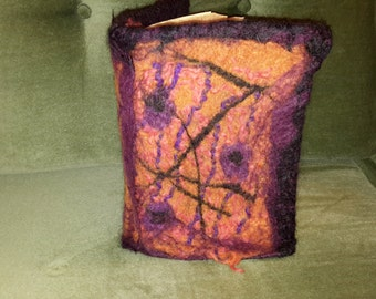 Felted book cover book accessory