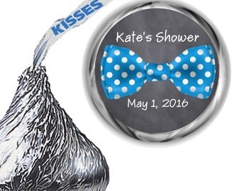 108 Bow Tie Baby Shower Hershey Kiss Labels
