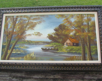 Original Landscape Painting, original oil painting, framed art