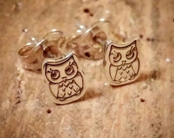 Cute and quirky mini owl studs