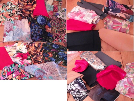 "Fabric scraps -bundle x 20 pieces, mixed bundle nothing smaller than 4""x4"""