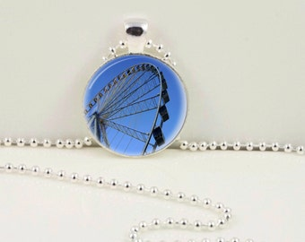 Pigeon Forge Wheel Pendant or Keychain