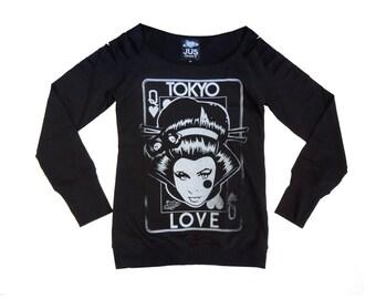 Women blue sweatshirt Womens sweater Women sweater Blue sweater Winter sweatshirt Rock sweater Punk rock sweater punk rock print