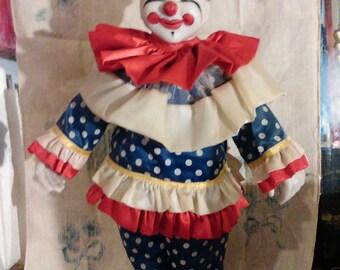16in Vintage Clown