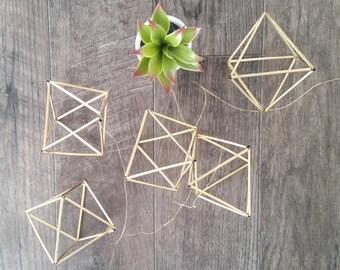 Gold Geometric Himmeli Garland