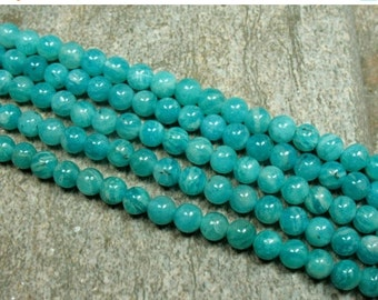 "15% OFF Russian Amazonite Beads, 4 mm - 15.5"" strand - Item B0590"