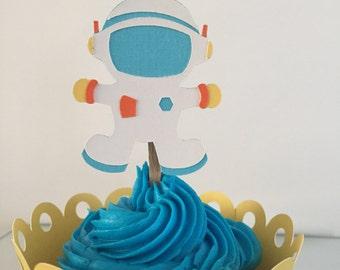 Astronaut Cupcake Topper