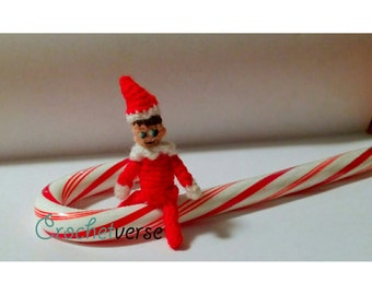 "Elf Miniature Crochet Pattern Shelf Amigurumi Christmas Dollhouse Tiny 1 1/2""! PDF"