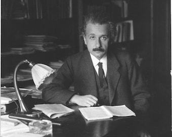 Albert Einstein in office, 1920 - Photo Print