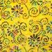 Batik fabric by the yard - yellow batik by the yard  - #16239