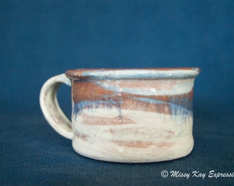 Handmade Ceramic Multi colored Mug with handle
