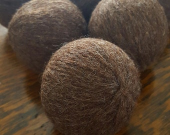 100% Wool Dryer Balls - Set of 6