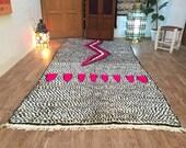 Bohemian Moroccan Berber Area Rug 5x9 Handmade Rugs By Artisan, Moroccan Rug, Vintage carpet, Moroccan Rug Carpet Kilim Kelim Berber