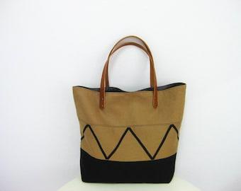 Aztec Brown Tote Bag