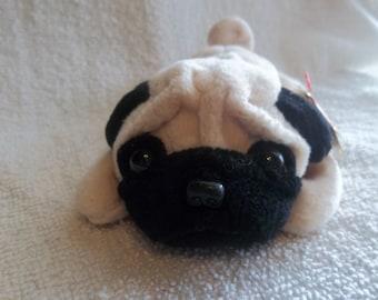 Pugsly the Dog- Ty Beanie Baby Original  (104A)