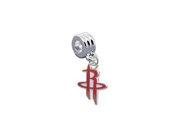 Houston Rockets Basketball European Charm for Bracelet, Necklace & DIY Jewelry