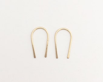 Mini U hoop earrings