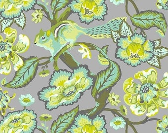 CHIPPER 1/2 yard by Tula Pink for Westminster fabrics Chipmunk Mint