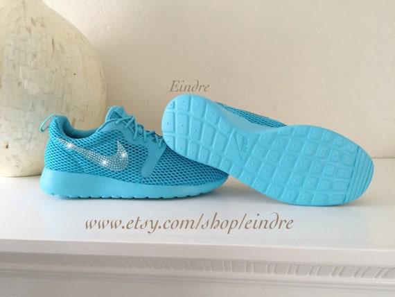 da25873e84cc Blinged Custom Nike Roshe One Hyper BR Gamma Blue by Eindre low-cost