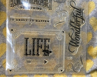 Life Is Wonderful - My Acrylix clear stamp set