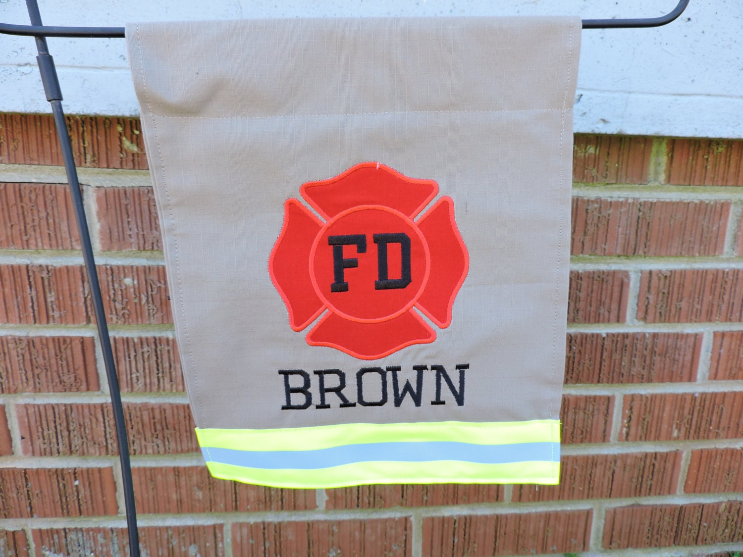 Personalized Firefighter Garden Flag Mini Firefighter
