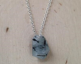 Aquamarine Necklace: Silver Dipped Aquamarine Necklace, Aquamarine Jewelry, March Birthstone, Aquamarine Point, Gemstone, Raw Aquamarine
