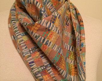Vintage pastel psychedelic scarf
