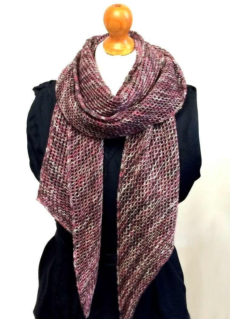 Lace Mesh Scarf Knitting Pattern WM2022