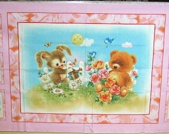 Best Friends Baby Panel Teddy Bear Bunny Craft Panel by SPX #353