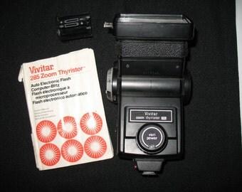 Vivitar Zoom Thyristor 285 Flash Unit with Instruction Booklet