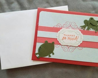 Thanks So Much Greeting Card w/ Frogs