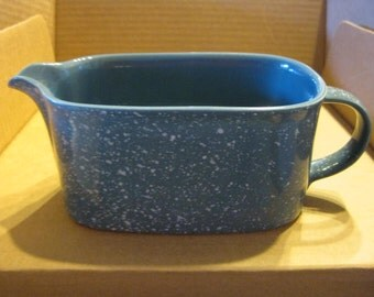 Mikasa Ultrastone Country Blue Gravy Boat/Pitcher