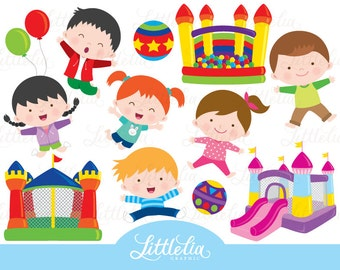Bounce house clipart - Children bounce house - 15108