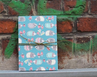 Baby Diary, memory book for the first baby the year, my first words, turqoise baby diary, kids mouth, birth, turquoise, hedgehogs