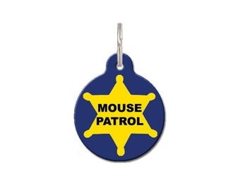 Cat Pet Tags - Mouse Patrol | FREE Personalization