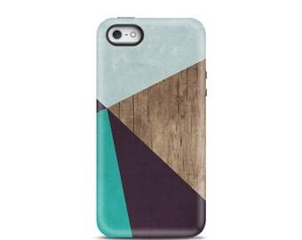 iPhone 7 case, iPhone 7 plus case, iPhone 6s, iPhone 6 case, iPhone 5 case, iPhone 5s case, phone case, iphone case - Geometric Wood