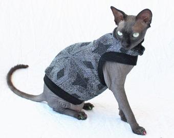 "Designer Cat Shirt ""Glitz"" Summerweight Cat Clothing"