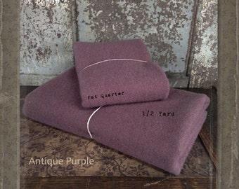 Wool: 1 YARD  Piece 100% Wool - ANTIQUE PURPLE - Marcus Fabrics
