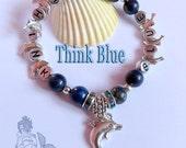 Think Blue bracelet  - Lapis Lazuli