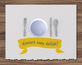 Dinner Was Delish Thank You card