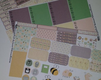 Planner Stickers Spring Blooms