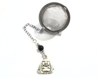 Buddha Tea Infuser, Spiritual Buddha Loose Leaf Tea Strainer, Buddha Charm Tea Accessories, Tea Drinker Gifts, Yoga and Meditation Pendants