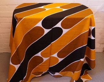 1970s' orange print fabric